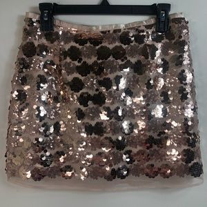 Forever 21Sequins skirt gold and silk under size M